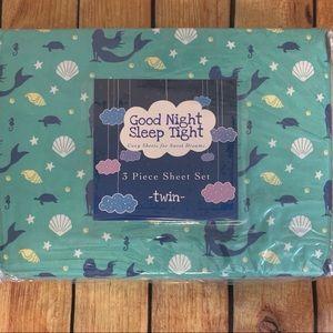 🆕 Twin size mermaid sea themed sheets